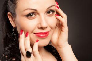 Beautiful closeup portrait of a young fashion woman